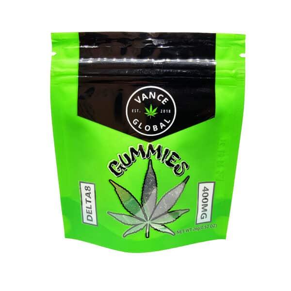 vance global delta 8 thc gummies edibles 400mg bag front