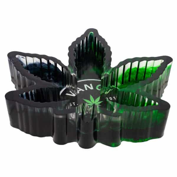Vance Global Handmade Limited Edition Pot Leaf Ashtray Dark Theme Photo 3